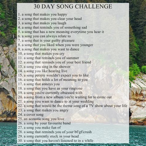 8tracks radio 30 day song challenge 25 songs free 8tracks radio 30 day song challenge ii 30 songs free
