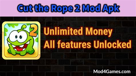 cut the rope 2 mod apk unlimited money all features unlocked mod4games - Unlimited Money Apk