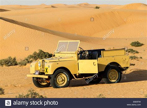 land rover desert land rover from the 50s before sand dunes desert safari