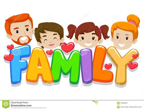 imagenes de la familia muisca cabeza de la familia con las letras ilustraci 243 n del vector