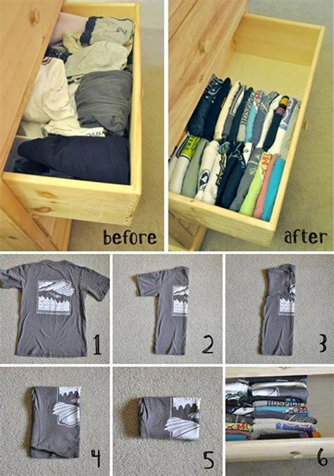 How To Fold T Shirts For Drawers c 243 mo doblar y organizar las camisetas en un caj 243 n date un capricho