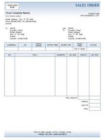 Sales Order Template by Doc 680892 Sales Order Template Exle Sales Order