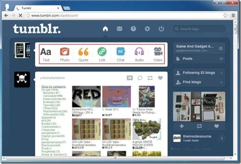 how to blog with tumblr and post content