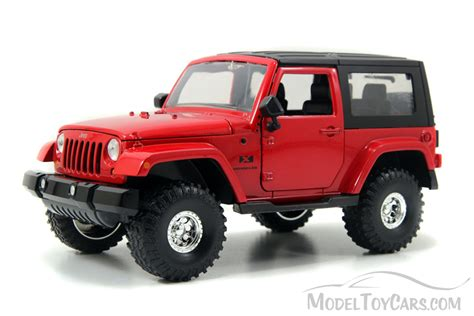 jeep toy car jeep wrangler red jada toys bigtime kustoms 92178 1