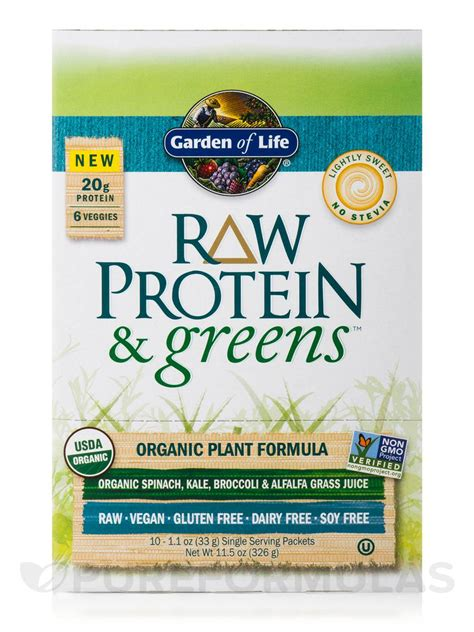 Garden Of Protein And Greens Protein And Greens Lightly Sweet Tray 10 Packets 11