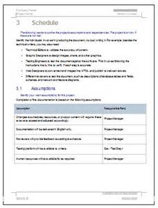 software documentation template documentation plan ms word template for software project