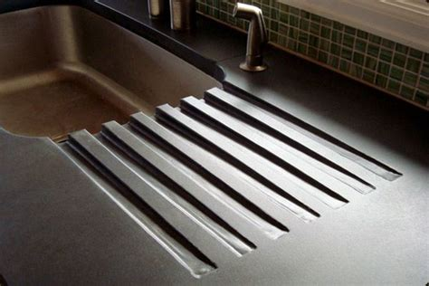 sink with built in drainboard concrete counters with built in drainboard home