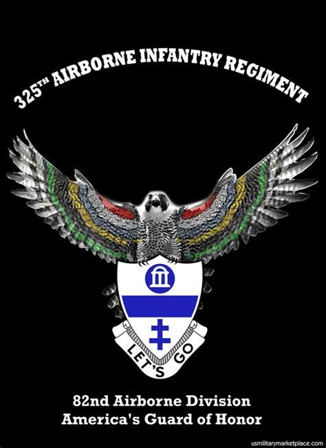 325th Airborne Infantry Regiment (AIR) Falcon Metal Wall Sign   Gruntworks11b