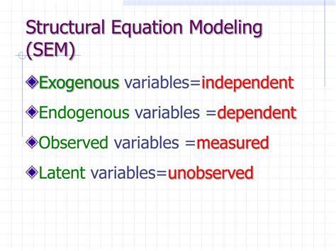 Structural Equation Modelling Sem ppt amos analysis of moment structures powerpoint presentation id 458986