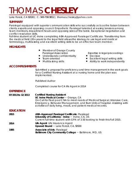 Sle Paralegal Resume With No Experience by Sle Paralegal Resume With No Experience 28 Images Free