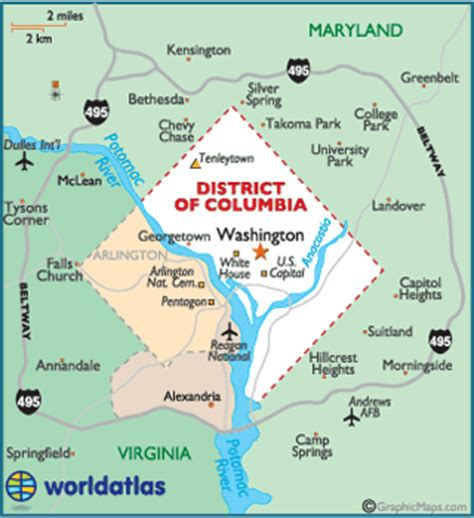 washington dc map of america washington dc state symbols song flags and more