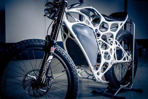 Design Works 3d Home Kit airbus light rider is the first 3d printed motorcycle from