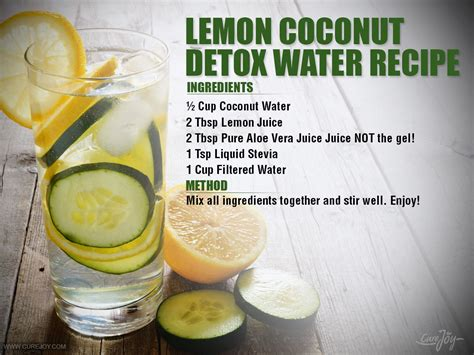 Free Detox Recipes simple detox lemon coconut water recipes for weight loss