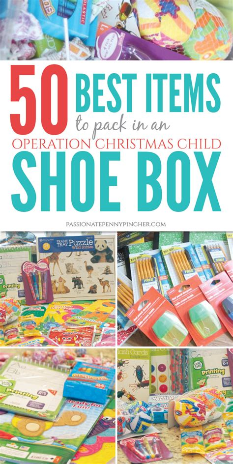 50 best items to pack in an operation christmas child