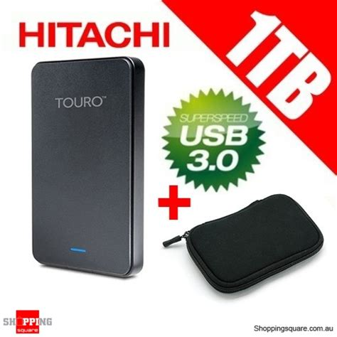 Hitachi Touro Mobile 1tb hitachi touro mobile mx3 1tb usb 3 0 portable drive 2 5 quot with bag pouch