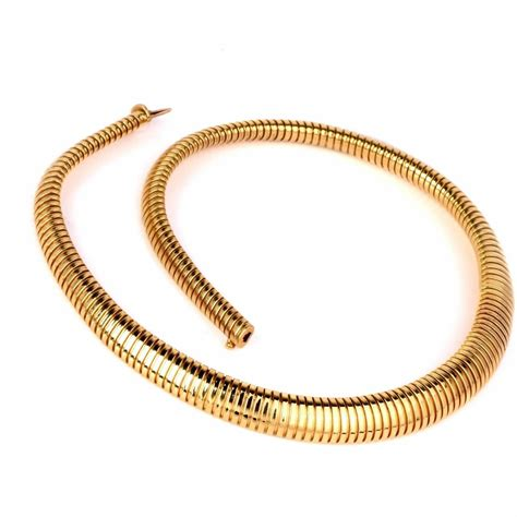 italian gold snake choker necklace at 1stdibs