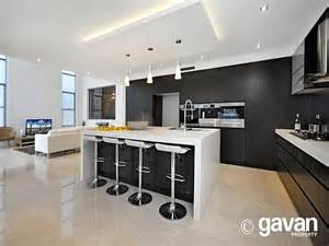 Design Ideas For Galley Kitchens Modern Island Kitchen Design Using Tiles Kitchen Photo
