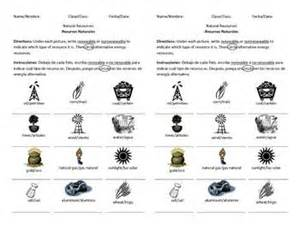 renewable and nonrenewable resources worksheet cleverwraps