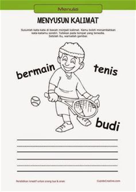belajar membaca menulis anak tk sd menyusun kata menjadi kalimat mewarnai gambar orang