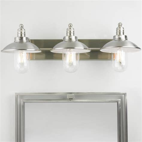lighting fixtures for bathrooms schooner 3 light bath light