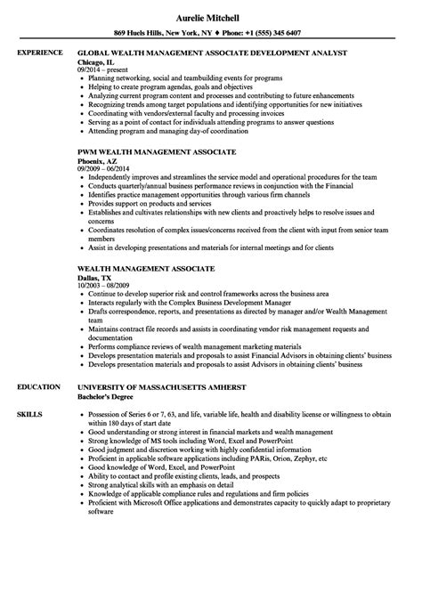 Wealth Management Resume