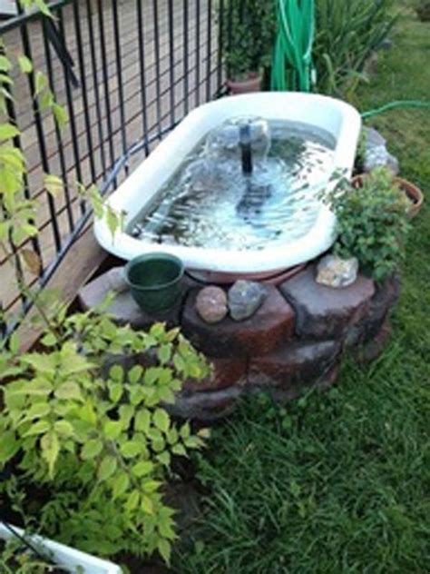 Bathtub Water Filters by 22 Small Garden Or Backyard Aquarium Ideas Will Blow Your