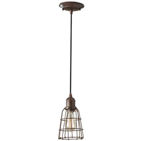 Industrial Vintage Mini Pendant Light With Cage Shade Industrial Mini Pendant Light