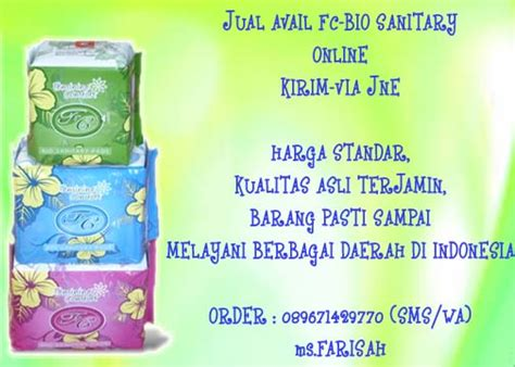 Pembalut Avail Day Use Herbal Sehat Alami jual avail fc bio sanitary pad muslimah in style