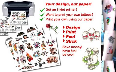 temporary tattoo inkjet printer paper tattoo paper temporary tattoos in australia blog