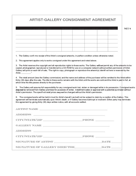 Consignment Agreement Free Download Legalzoom Contract Template