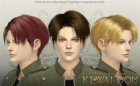 attack on titan sims 3 hair levi the sims4 male hair kewai dou