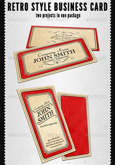 cards template looking vintage looking business cards gallery card design and