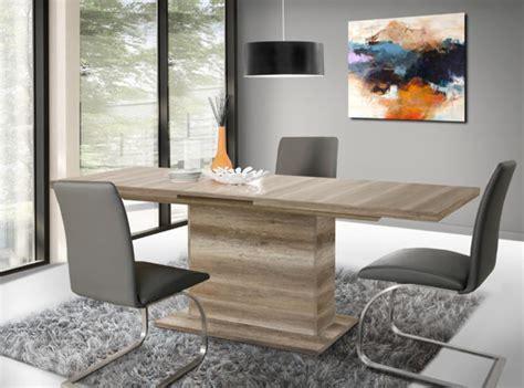 table sejour avec rallonge table de repas avec rallonge calpe chene antique