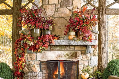 fireplace mantel cover southern living screened porch fall fireplaces and mantels southern living