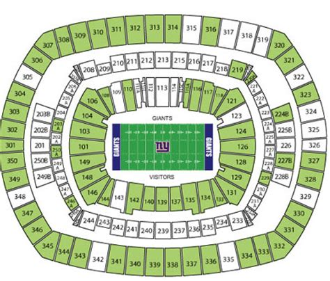 meadowlands seat view metlife stadium seating chart ticketmaster