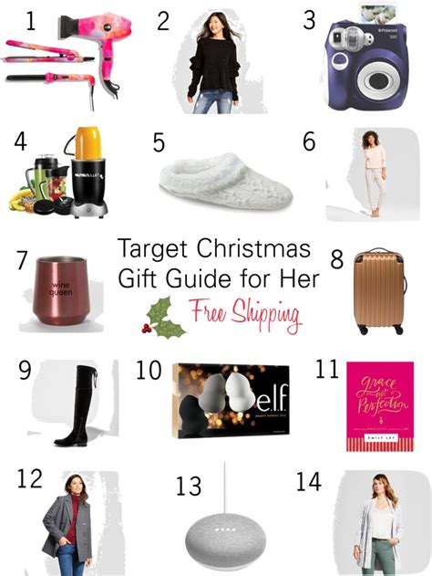 target christmas gift guide for her free shipping rose