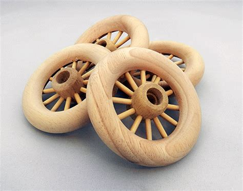 spoked wheel wooden     axle peg