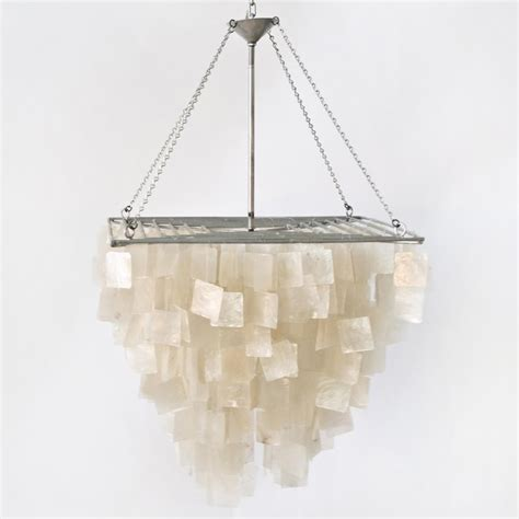 Worlds Away Chandelier Worlds Away Capiz Shell Square Chandelier Contemporary Chandeliers By Candelabra
