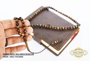 Gelang Tasbih Gaharu Riza Craft Magelang Jawa Tengah tasbih tali arus hitam emas 99 butir 171 jual gelang tasbih