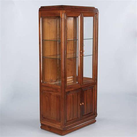 Vitrine Display Cabinet by Deco Walnut Vitrine Display Cabinet 1930s For