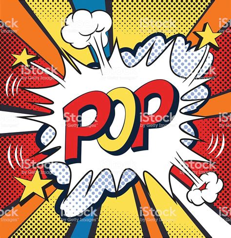 comic clipart pop comic speech vector illustration stock vector