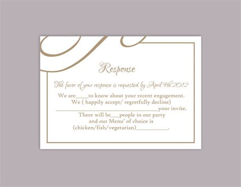 Rsvp Cards Templates Microsoft by Diy Wedding Rsvp Template Editable Text Word File