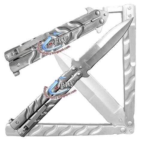 Pisau Balisong pisau lipat balisong silver 001