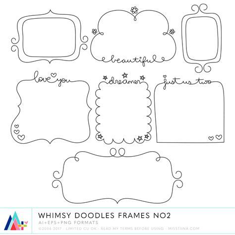 free doodle frame font whimsy doodles bundle 183 cu 183 187 miss tiina