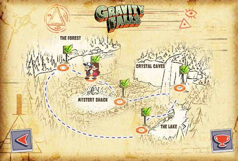 map of gravity falls image fn map png gravity falls wiki fandom