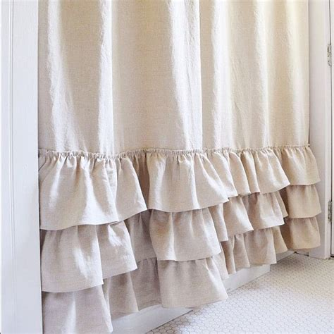 extra long ruffle shower curtain best 25 extra long curtains ideas on pinterest long