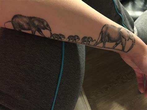 family elephant tattoo elephants family my family proud