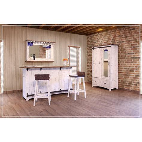 International Furniture Direct Bar Stools by International Furniture Direct Pueblo Solid Wood Bar Stool