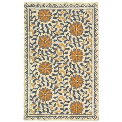 safavieh chelsea rug safavieh chelsea ivory blue 2 ft 6 in x 4 ft area rug hk150a 24 the home depot