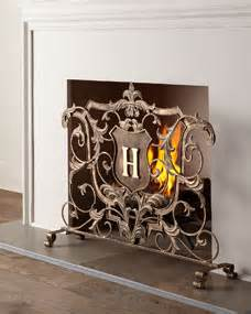 monogram fireplace screen monogrammed fireplace screen